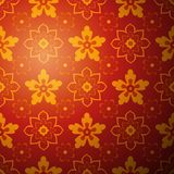 Chinese flower pattern background. Vector. Illustration for your fashion design. Endless eastern red and yellow ornamental Stock Photography