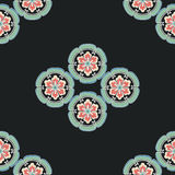 Chinese flower pattern Color. Elegant Stock Images