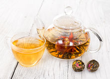 Chinese flowering tea Royalty Free Stock Photography