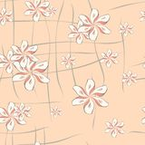 Chinese flowers. A seamless pattern of fantasy flowers Stock Photography