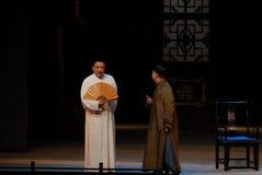 Chinese folding fan - Drama autumn Stock Photography