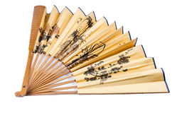 Chinese folding fan isolated Royalty Free Stock Photos