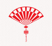 Chinese folding fan means Stock Images