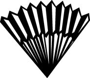 Chinese folding fan vector illustration Royalty Free Stock Photos