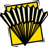 Chinese folding fan vector illustration Royalty Free Stock Image