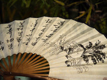 Chinese folding hand fan Stock Photo