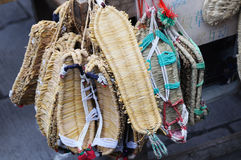 The Chinese folk art: straw sandals Stock Photography