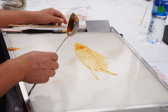 Chinese folk customs: syrup painting Stock Photos
