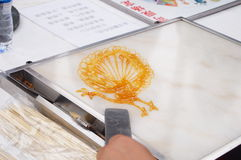 Chinese folk customs: syrup painting Royalty Free Stock Photos