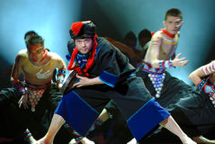 Chinese folk dance  Stock Photos