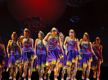 Chinese folk dance  Royalty Free Stock Images