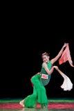Chinese folk dance-fan dance Stock Photos