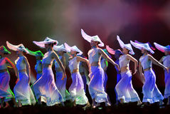 Chinese folk dance : hit the clam Royalty Free Stock Photo