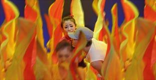 Chinese folk dance : jiujiu sunny day Stock Images