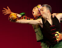 Chinese folk dance : Old Tea God Stock Photo