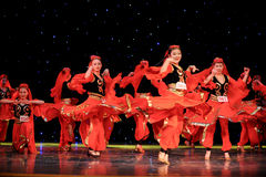 Chinese folk dance-Uighur dance Stock Photography
