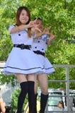 Chinese Folk Dancer at Chinatown Summer Fair Stock Photos