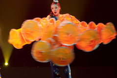 Chinese folk dancer girl Stock Photo