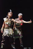Chinese folk dancers Stock Photos
