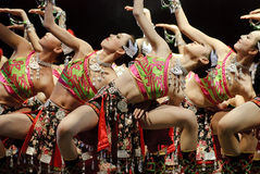 Chinese folk dancers Stock Photos