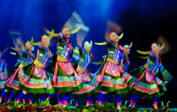 Chinese folk dancing girls Royalty Free Stock Images