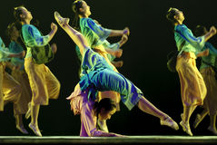 Chinese folk dancing girls Stock Images