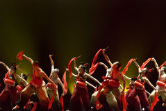 Chinese folk group dance Stock Photos