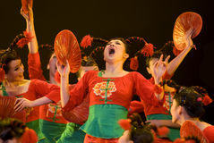 Chinese folk group dance Stock Photography