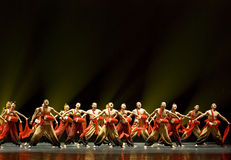 Chinese folk group dance show Royalty Free Stock Photography