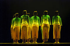 Chinese folk group dancers Royalty Free Stock Photo