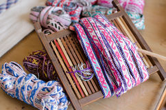 Chinese folk handicrafts, hand-woven coarse cloth Stock Image