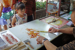 Chinese folk handicrafts,Sugar painting Stock Image
