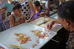 Chinese folk handicrafts,Sugar painting Stock Image