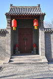 Chinese folk house gate Stock Photo