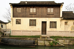 Chinese folk house. A Chinese folk house with a river in front in a southern Chinese traditional village Royalty Free Stock Images