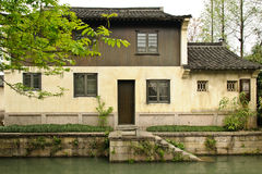 Chinese folk house. A Chinese folk house with a river in front in a southern Chinese traditional village Royalty Free Stock Image