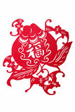 Chinese folk paper - Fu. stock images