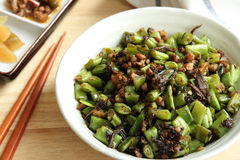 Chinese food——  Fried string bean Royalty Free Stock Photography