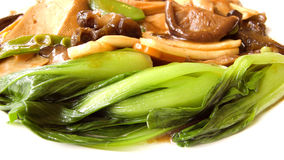 Chinese food. Tofu and vegetables and mushrooms and fungus mix, chinese food for vegetarian Stock Photo