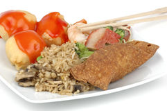 Chinese Food. Delicious plate of Chinese food Stock Image