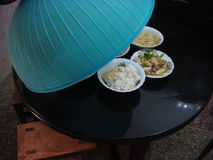 Chinese food. In dishes beneath mantle Stock Photography