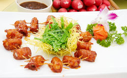 Chinese food. On  restaurant table Stock Photography