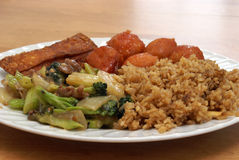 Chinese Food. A dish full of excellent Chinese food Stock Images