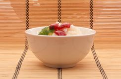 Chinese food. In a white plate royalty free stock photo