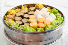 Chinese food appetizer, mixed dim sum. stock images