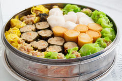 Chinese food appetizer, mixed dim sum. Stock Photos