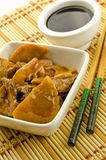 Chinese food, beef with bamboo and mushrooms Stock Image