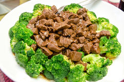 Chinese food a beef and broccoli plate Royalty Free Stock Photo