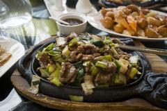 Chinese food with beef. Royalty Free Stock Photography