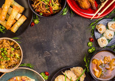 Chinese food blank background Stock Photos